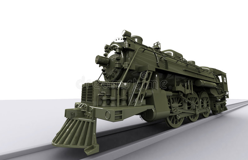 De Oude Trein van Gigant vector illustratie