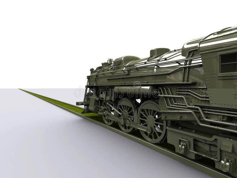 De Oude Trein van Gigant stock illustratie