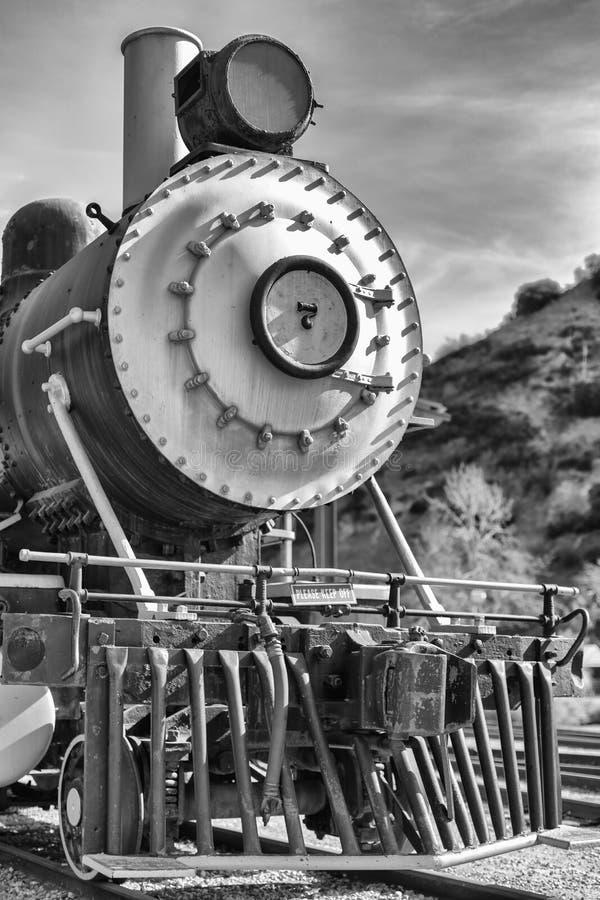 De Oude Trein in Zwart-wit royalty-vrije stock foto's