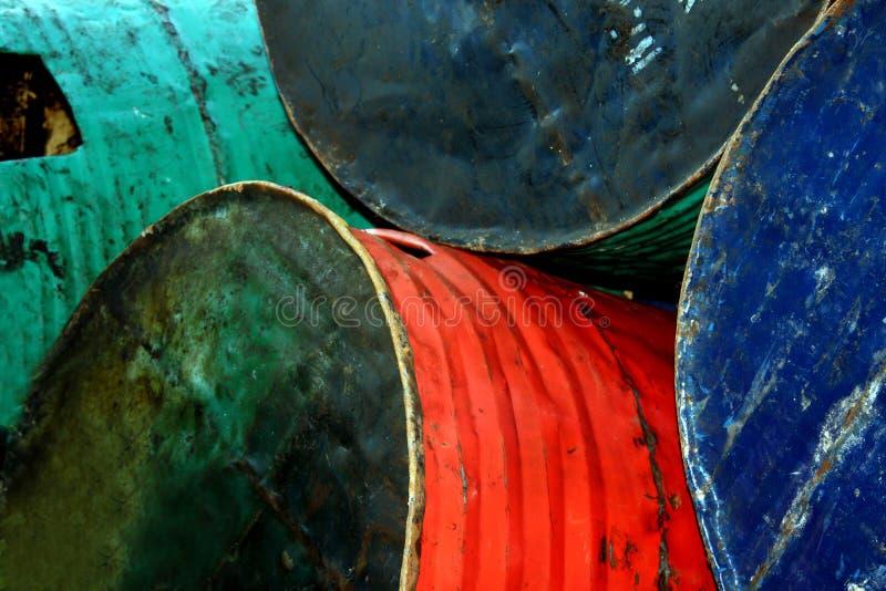De oude Trommels van de Olie royalty-vrije stock afbeelding