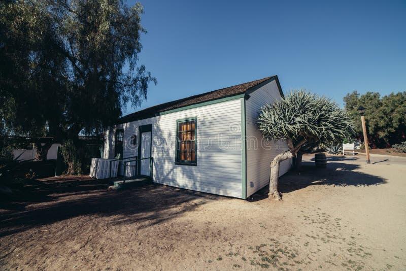 De oude typebouw in woestijn in San Diego, Californië stock fotografie