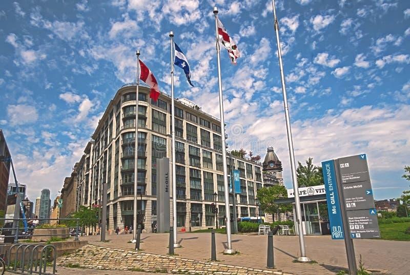 De oude uitgang van McGill van de Havenscène stock fotografie