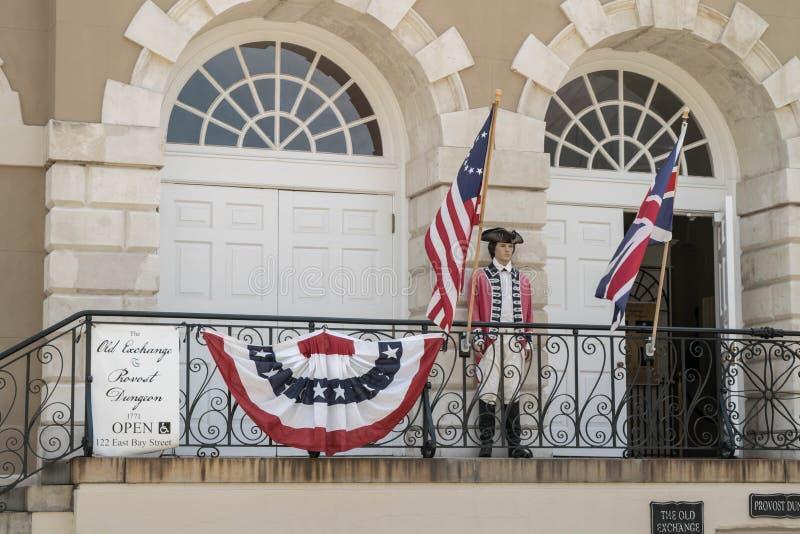 De Oude Uitwisseling en Provost Kerker Charleston, Zuid-Carolina royalty-vrije stock afbeeldingen