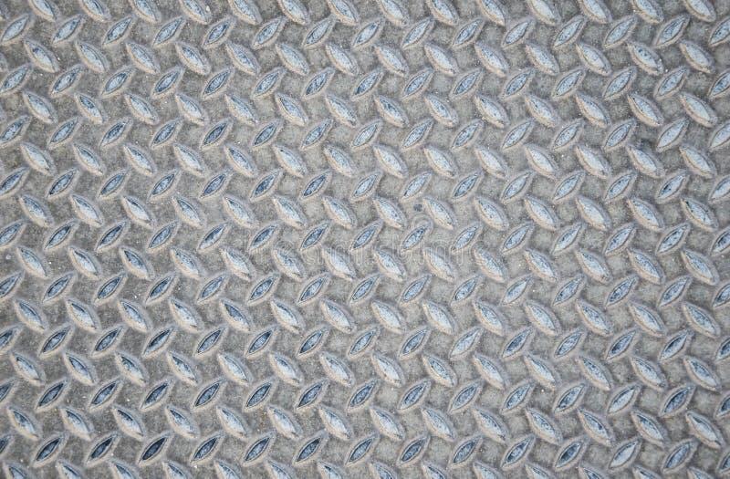 De oude van de de diamantplaat van het metaal naadloze staal achtergrond van het de textuurpatroon royalty-vrije stock fotografie