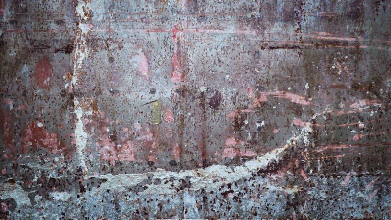 De oude van het het metaalijzer van het roeststaal achtergrond van de de textuuroppervlakte stock afbeelding