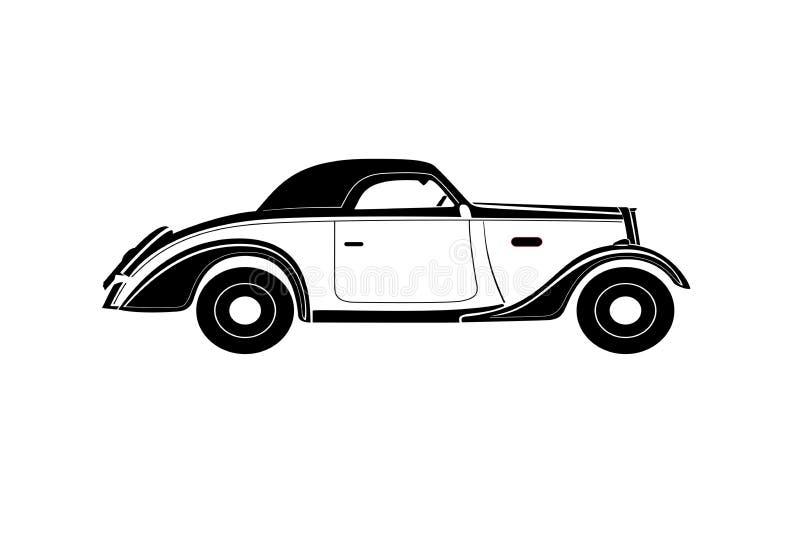 De oude Vector van de Auto royalty-vrije stock afbeelding