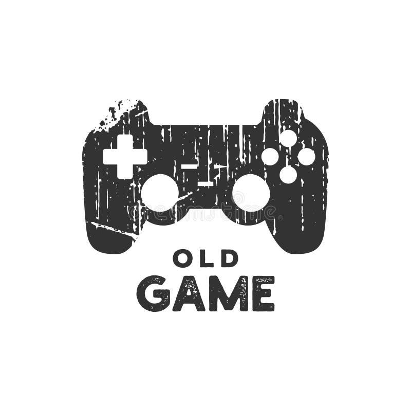 De oude vector van de het pictogramontwerpsjabloon van het spelembleem royalty-vrije illustratie