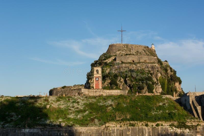 De Oude Venetiaanse Vesting in Kerkyra, het eiland van Korfu, Griekenland royalty-vrije stock foto