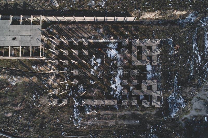 De oude vernietigde bouw royalty-vrije stock fotografie