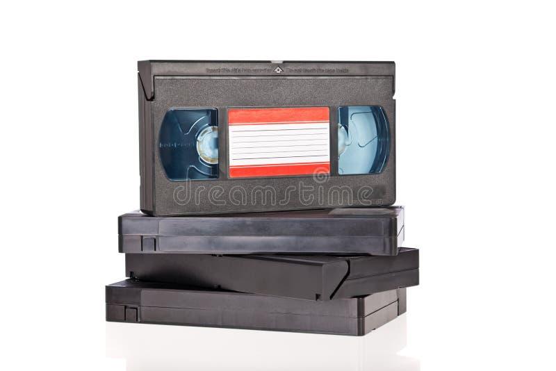 De oude Videobanden van de Cassette royalty-vrije stock foto