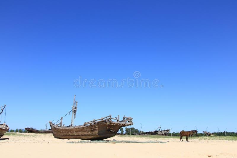 De oude vissersboot stock foto's