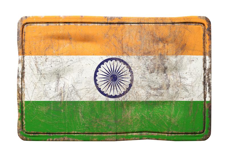 De oude vlag van India stock illustratie