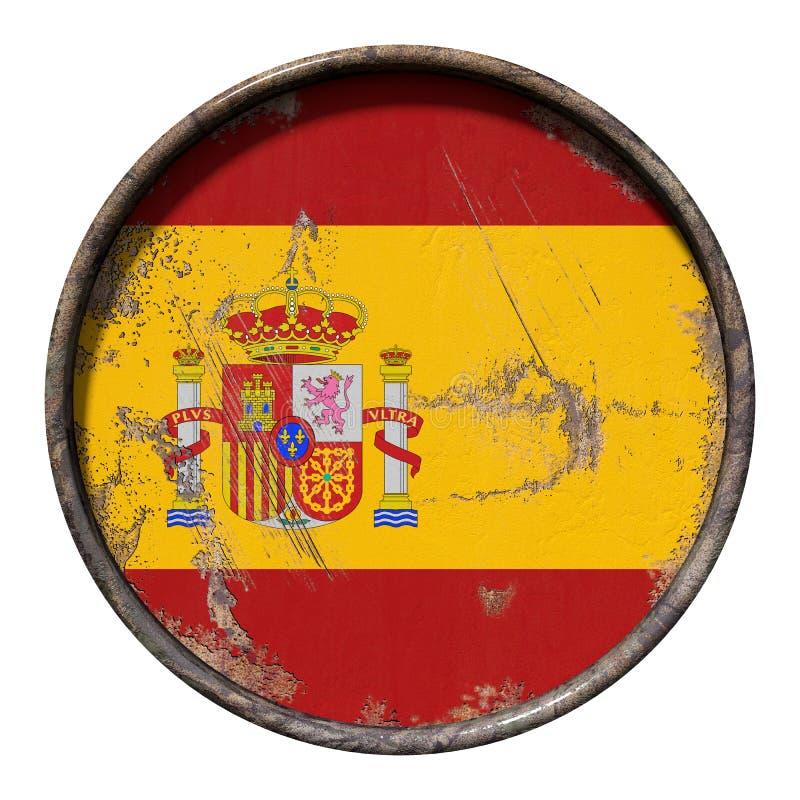De oude vlag van Spanje royalty-vrije illustratie
