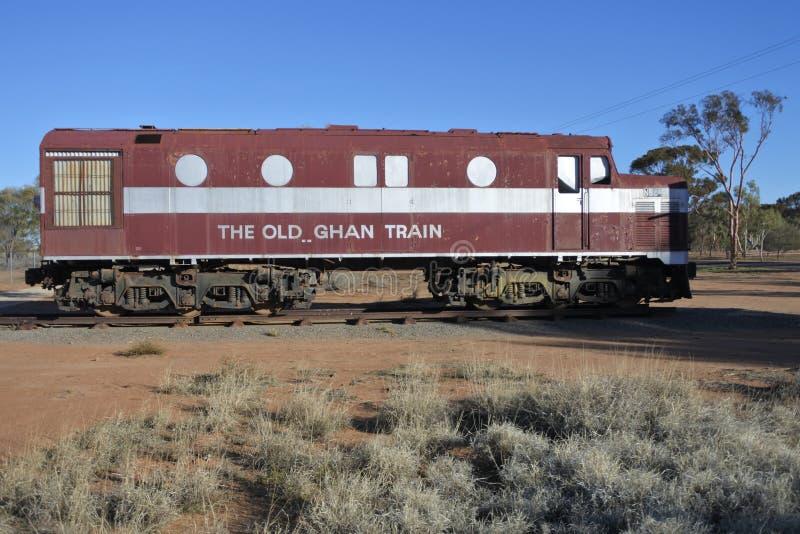 De Oude Voortbewegingstrein van Ghan in Alice Springs Northern Territory royalty-vrije stock afbeeldingen