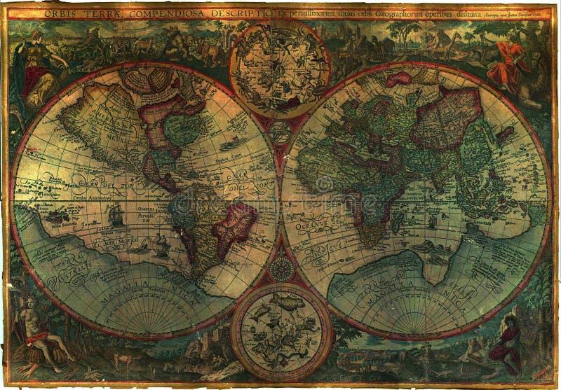 De oude Vrije Kaart van de Royalty stock fotografie