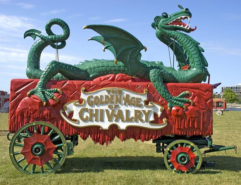 De oude Wagen van het Circus van de Tijd royalty-vrije stock foto's