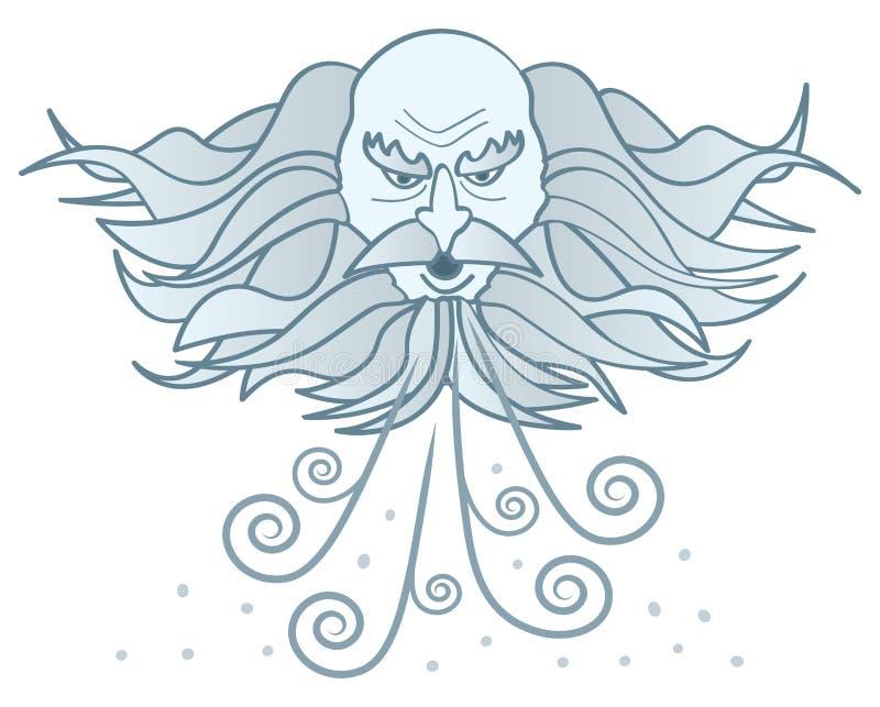 De oude Winter van de Mens stock illustratie