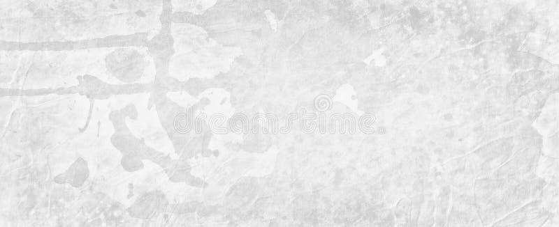 De oude witte achtergrond grunge met waterverfdruppels laat vallen vlekken en spat en marmer bevlekte uitstekende grenstextuur stock illustratie