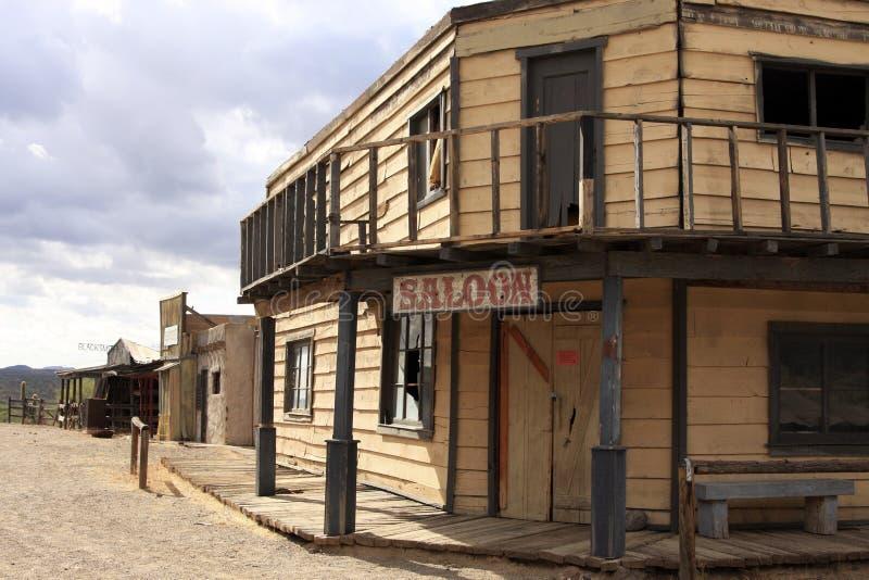 De oude Zaal van de Stad van Wilde Westennen stock afbeeldingen