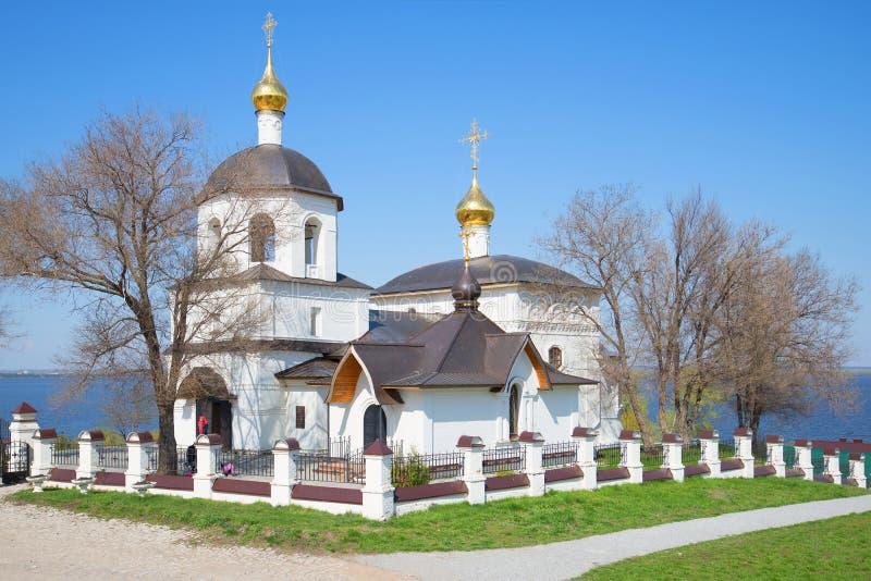 De oude zonnige Kerk van Constantine en Helena, kan dag Sviyazhsk, Tatarstan, Rusland royalty-vrije stock afbeelding