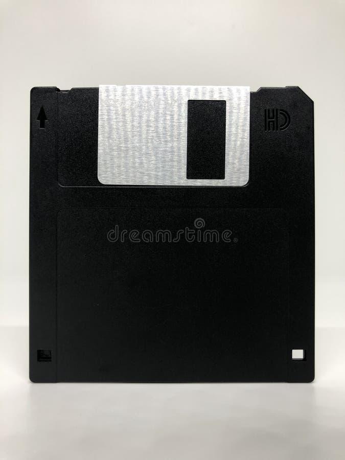 De oude zwarte diskette royalty-vrije stock fotografie