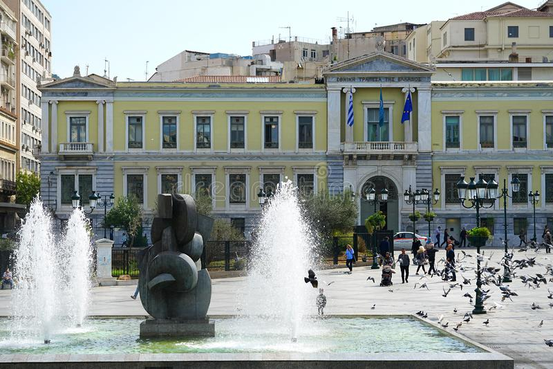 5 DE OUTUBRO DE 2018, ATENAS, GRÉCIA National Bank de Grécia imagem de stock