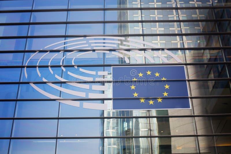 26 de outubro, Bélgica, Bruxelas Construção do Parlamento Europeu foto de stock royalty free