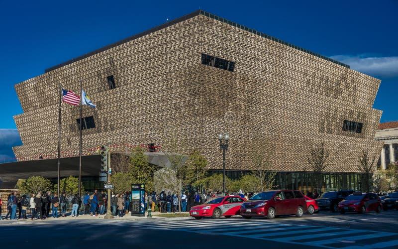 28 de outubro de 2016 - Museu Nacional da história afro-americano e da cultura, Washington DC, perto de Washington Monument foto de stock royalty free