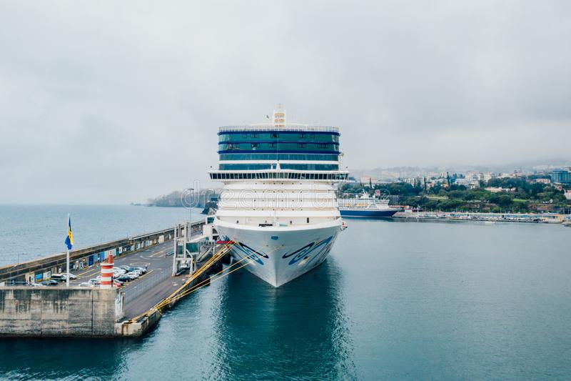 10 de outubro de 2018 Funchal, Madeira, Portugal imagem de stock