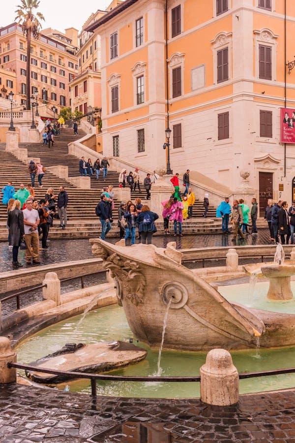 28 de outubro de 2018 roma Italy Espanha quadrada - Praça di Spagna imagens de stock