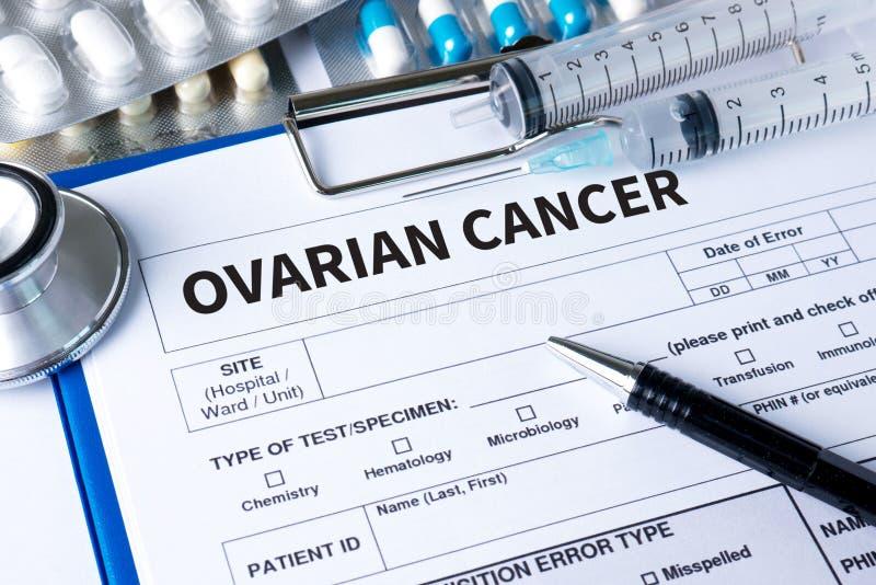 De OVARIALE voorlichting van het de Wintertalingslint van het KANKERconcept om Ovariaal te steunen stock afbeeldingen