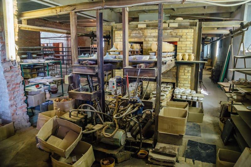 De oven voor vuren van aardewerk stock fotografie