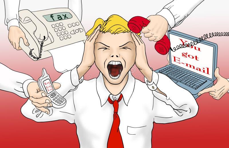 De overbelasting van de informatie stock illustratie