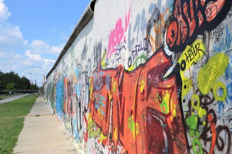 De overblijfselen van Berlin Wall stock foto