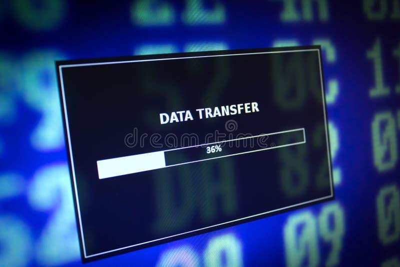 De overdracht van gegevens stock afbeelding