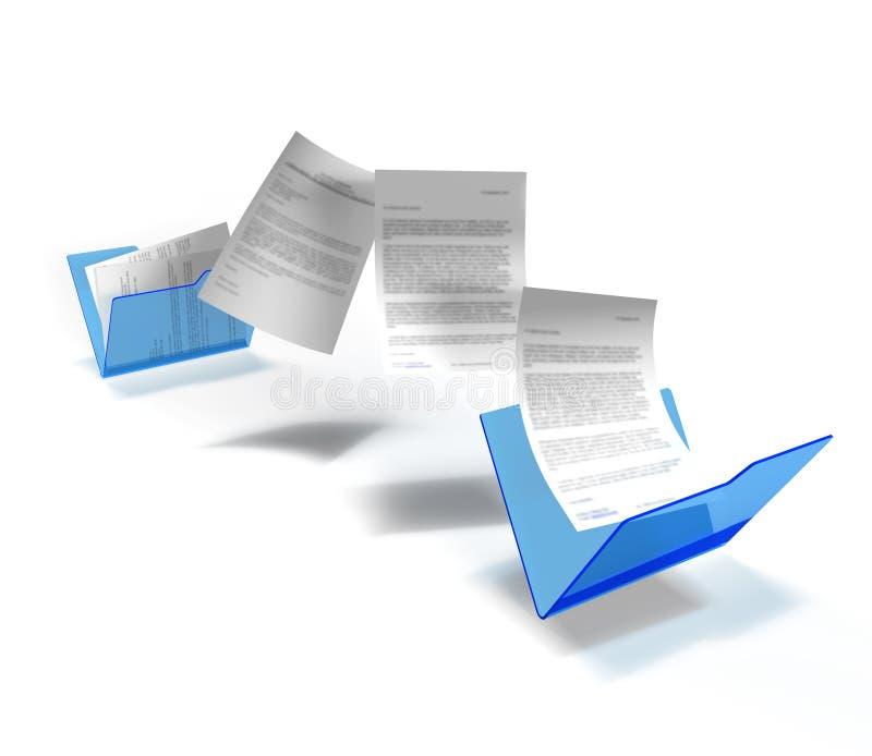 De overdracht van het dossier vector illustratie