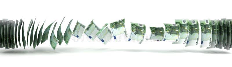 De Overdracht van het geld stock illustratie