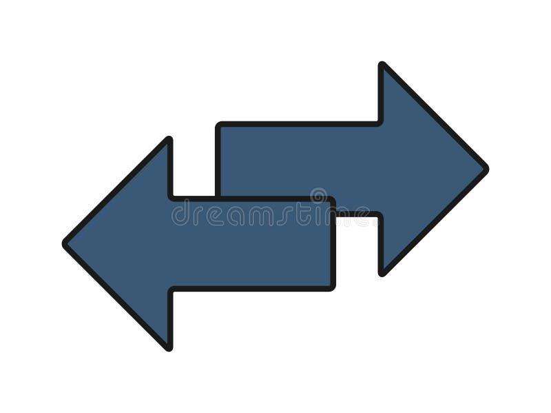 De overdrachtpictogram van de uitwisselingspijl, embleem De vector isloated op witte achtergrond royalty-vrije illustratie
