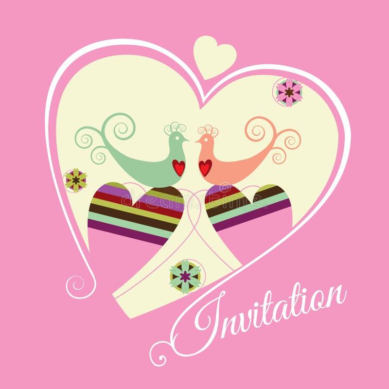 De Overeenkomst Bewaart De Datum Roze Uitnodiging Royalty-vrije Stock Afbeeldingen