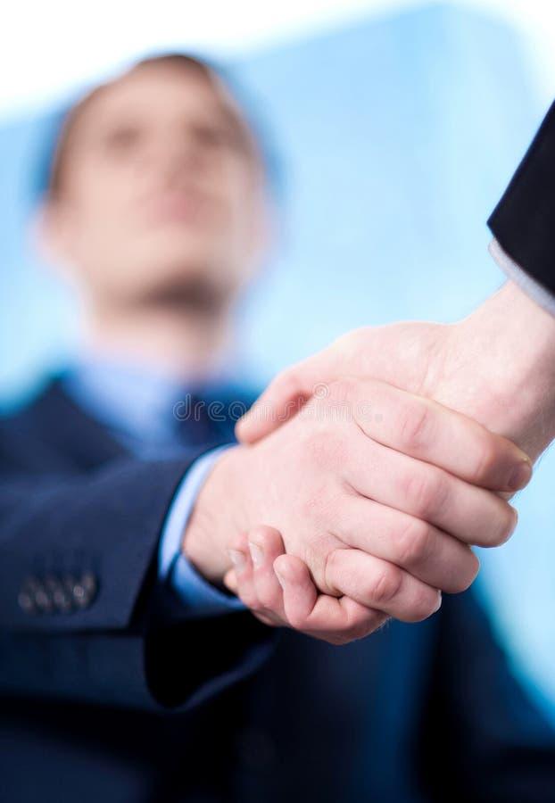 De overeenkomst is gesloten, gelukwensen! stock foto
