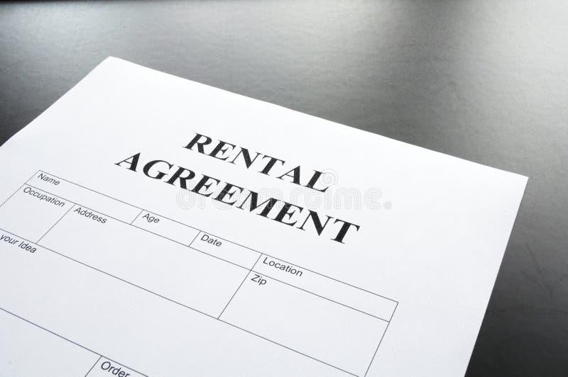 De overeenkomst van de huur royalty-vrije stock foto's