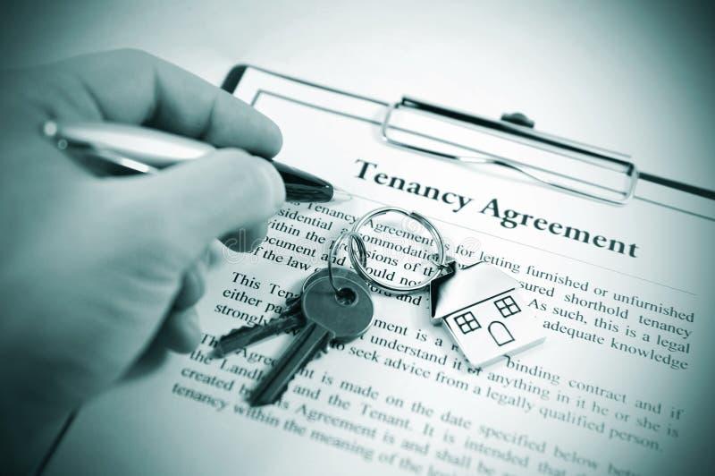 De overeenkomst van de huur stock foto