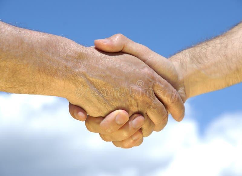 De overeenkomst wordt gedaan stock foto