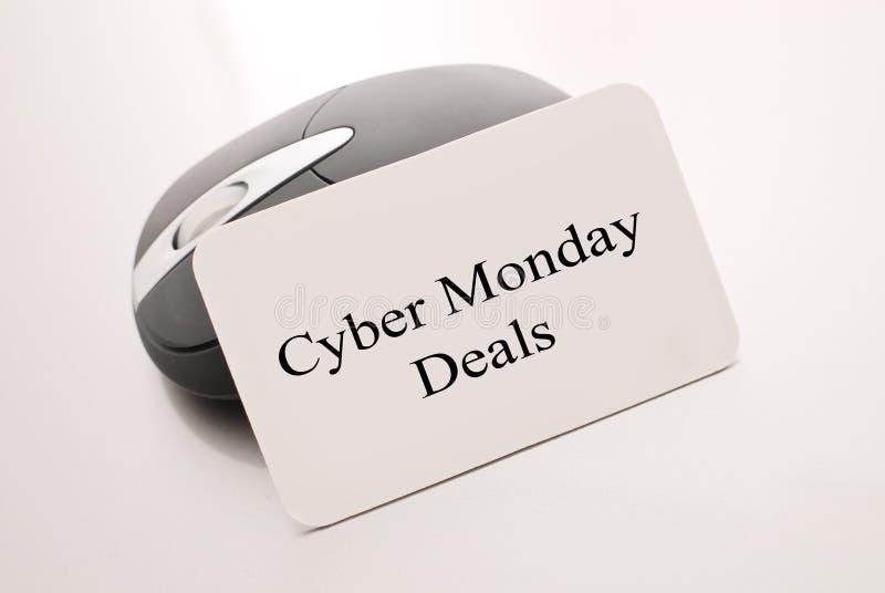 De Overeenkomsten van de Maandag van Cyber stock foto's