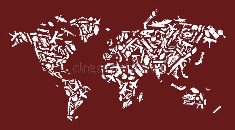 De overeenkomsten van de wereld in wapens royalty-vrije illustratie