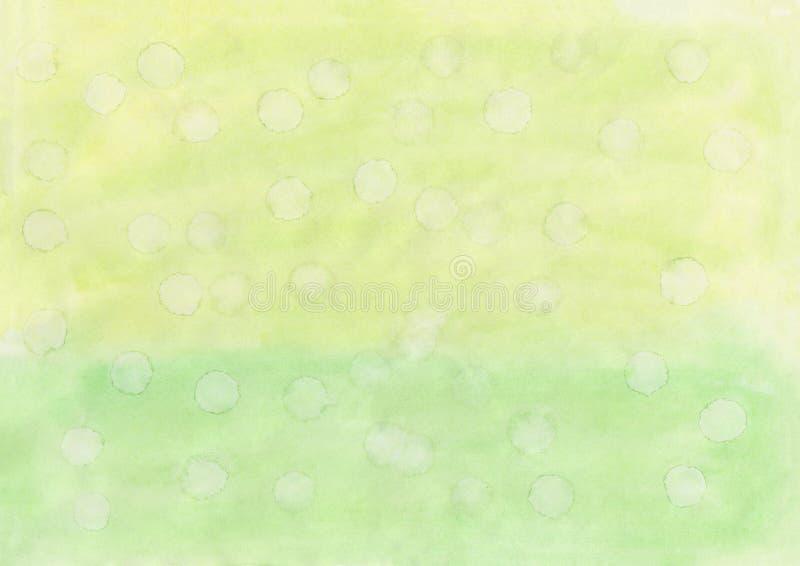 De overgang van het textuurpatroon geel aan groene witte dalingen stock fotografie