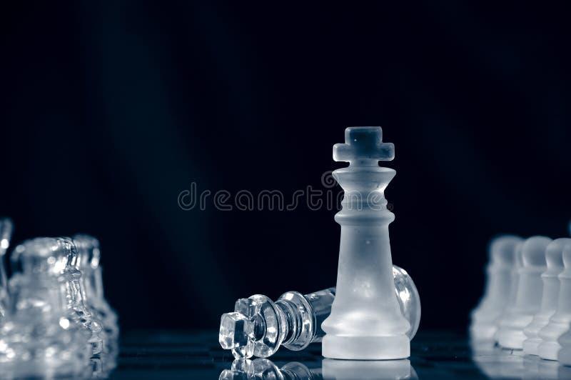 De overgave van de schaakmat ?. royalty-vrije stock fotografie