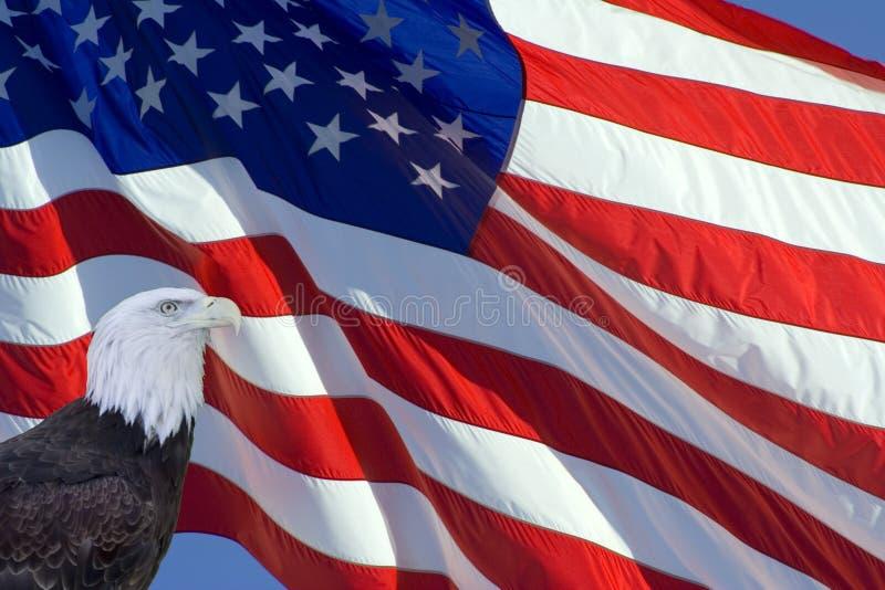 De overgehelde Vlag van de V.S. royalty-vrije stock afbeelding