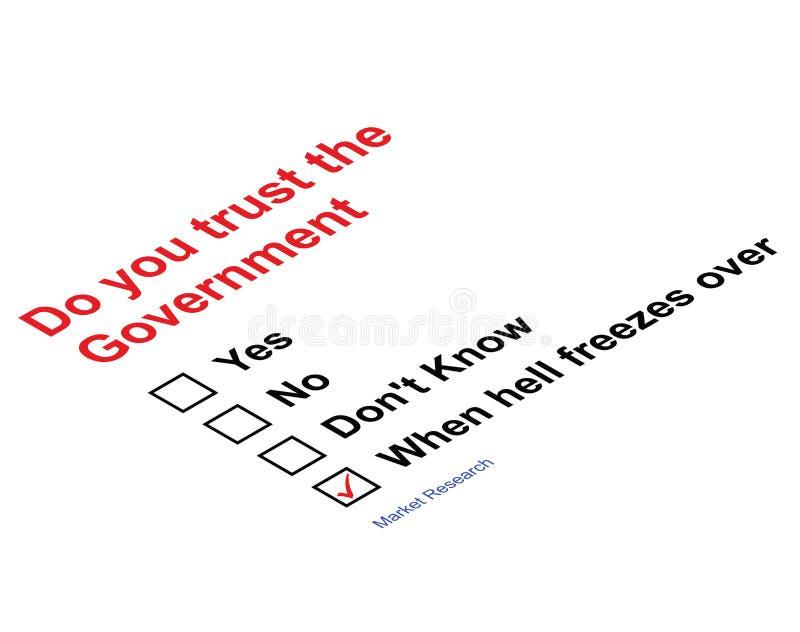 De Overheid van het vertrouwen royalty-vrije illustratie