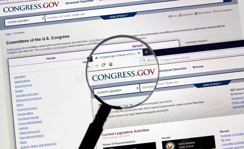 De Overheidshome page van de V.S. stock fotografie